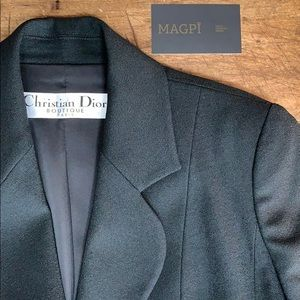 Christian Dior Vintage Virgin Wool Blazer
